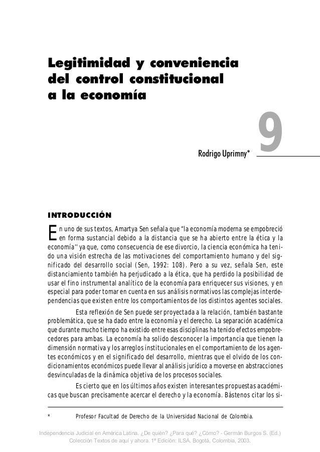"""INTRODUCCIÓN En uno de sus textos, Amartya Sen señala que """"la economía moderna se empobreció en forma sustancial debido a ..."""