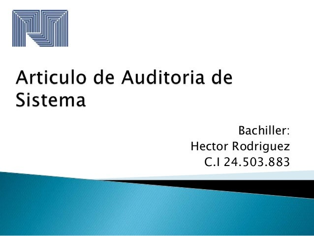 Bachiller: Hector Rodriguez C.I 24.503.883