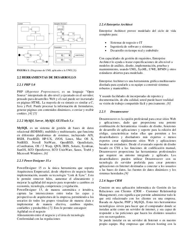 FIGURA 1: (Diagramas de UML aplicados a la UWE [3]) 2.2 HERRAMIENTAS DE DESARROLLO 2.2.1 PHP 5.0 PHP (Hypertext Preprocess...