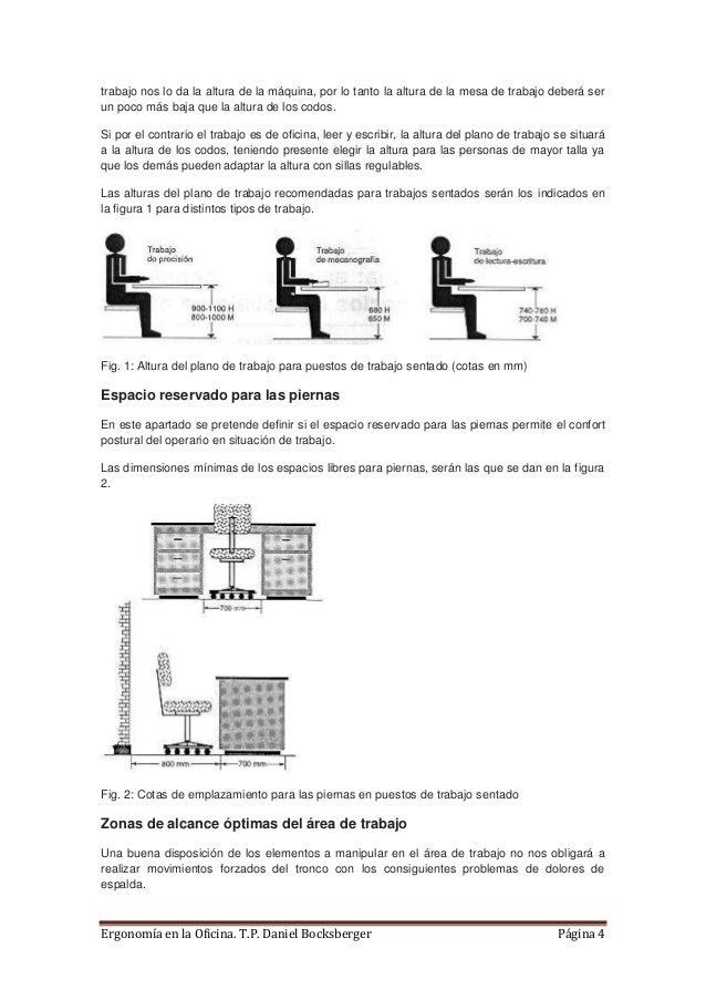 Articulo ergonomia malas posturas trabajo sentado for Dimensiones de una mesa de trabajo