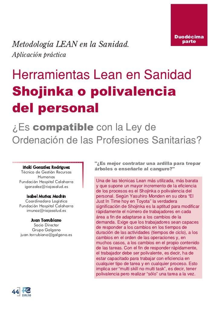 Duodécima                                                                                parteMetodología LEAN en la Sanid...