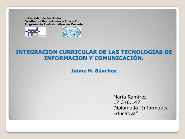 Universidad de Los Andes<br />Facultad de Humanidades y Educación<br />Programa de Profesionalización Docente<br />INTEGRA...