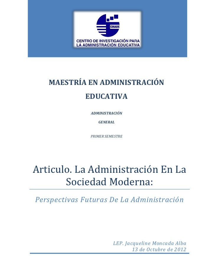 MAESTRÍA EN ADMINISTRACIÓN             EDUCATIVA               ADMINISTRACIÓN                  GENERAL               PRIME...