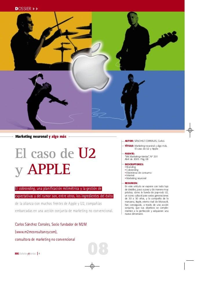 008-17 U-2 y Apple   29/3/05   11:00   Página 8         DOSSIER >>         Marketing neuronal y algo más                  ...