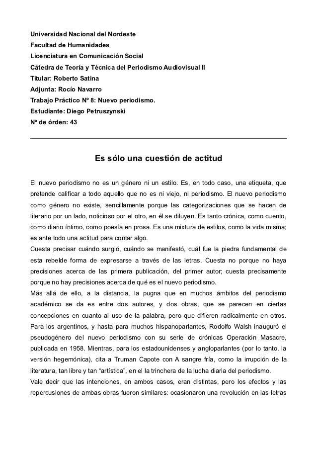 Universidad Nacional del NordesteFacultad de HumanidadesLicenciatura en Comunicación SocialCátedra de Teoría y Técnica del...