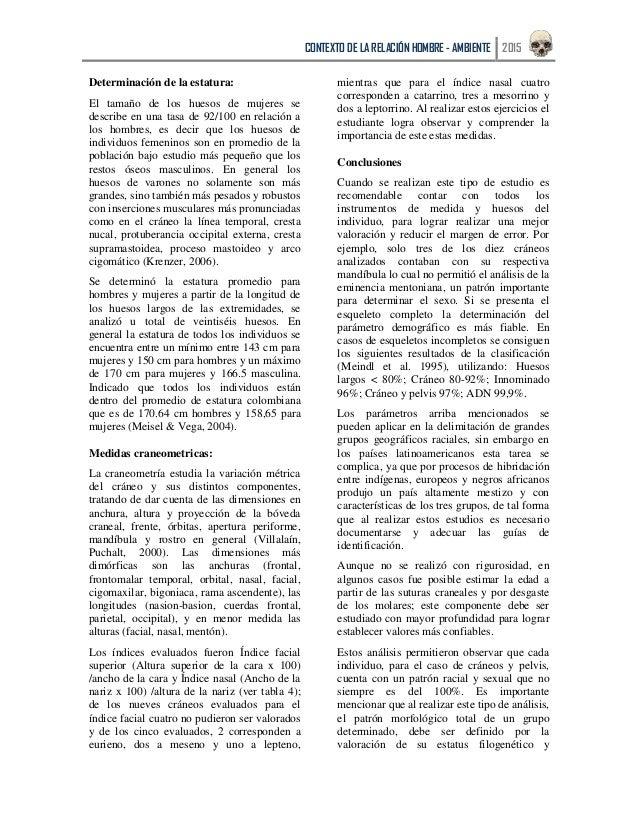 Articulo Osteología Antropológica, restos óseos humanos