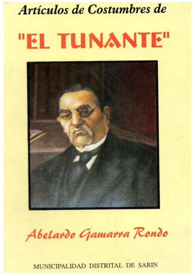 Articulos De Costumbres Abelardo Gamarra Rondo