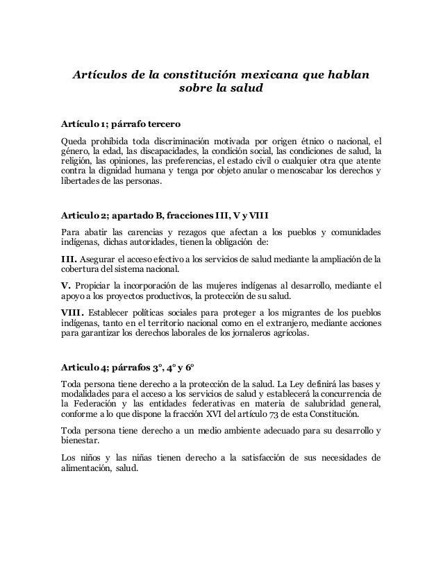 Articulo 4 dela constitucion mexicana yahoo dating