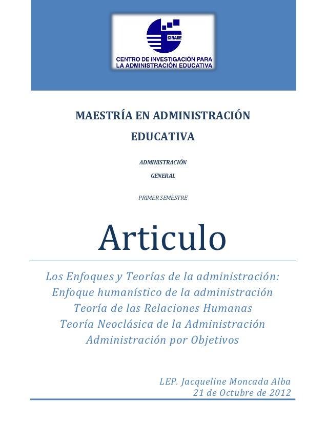 MAESTRÍA EN ADMINISTRACIÓN                EDUCATIVA                 ADMINISTRACIÓN                    GENERAL             ...