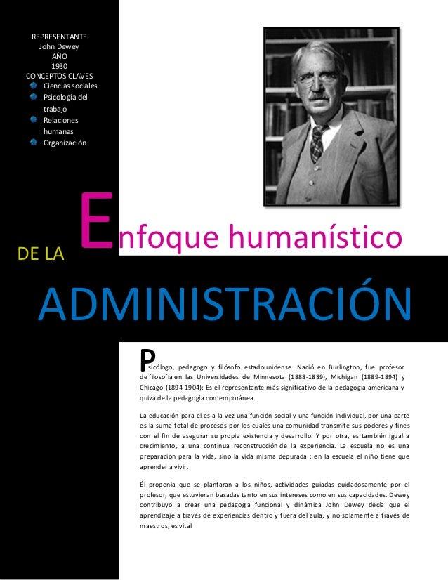 REPRESENTANTE   John Dewey       AÑO       1930CONCEPTOS CLAVES    Ciencias sociales    Psicología del    trabajo    Relac...