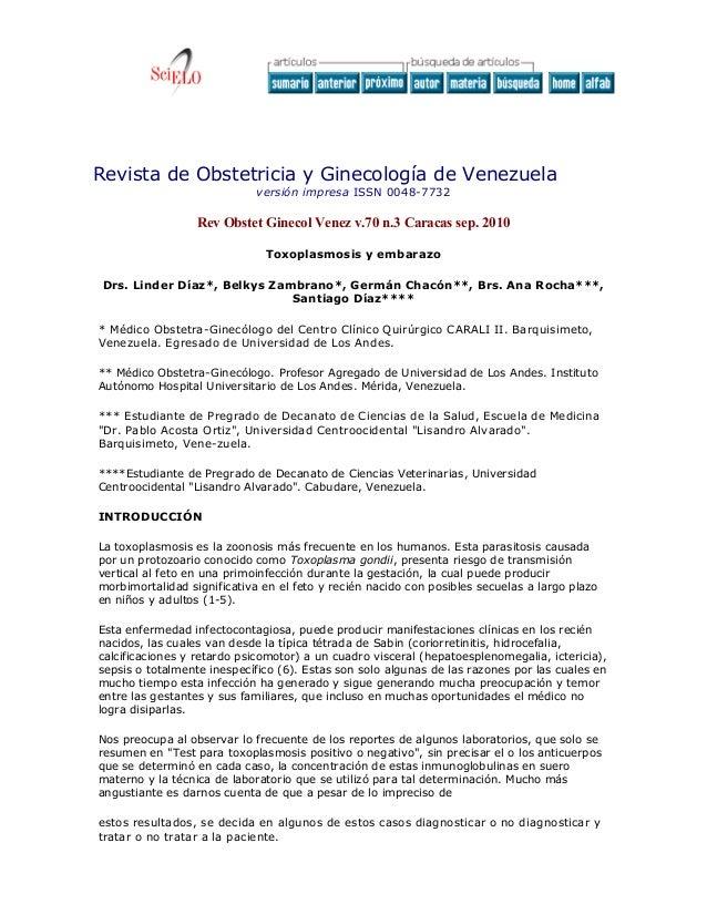 Revista de Obstetricia y Ginecología de Venezuela                             versión impresa ISSN 0048-7732              ...