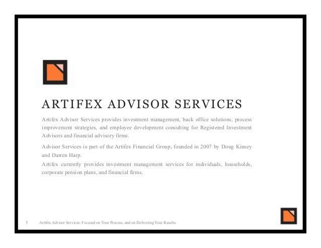 ria pitch book artifex advisor services. Black Bedroom Furniture Sets. Home Design Ideas