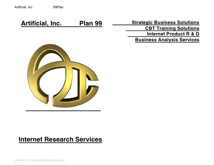 Artificial, Inc.                            99Plan            Artificial, Inc.                                      Plan 9...