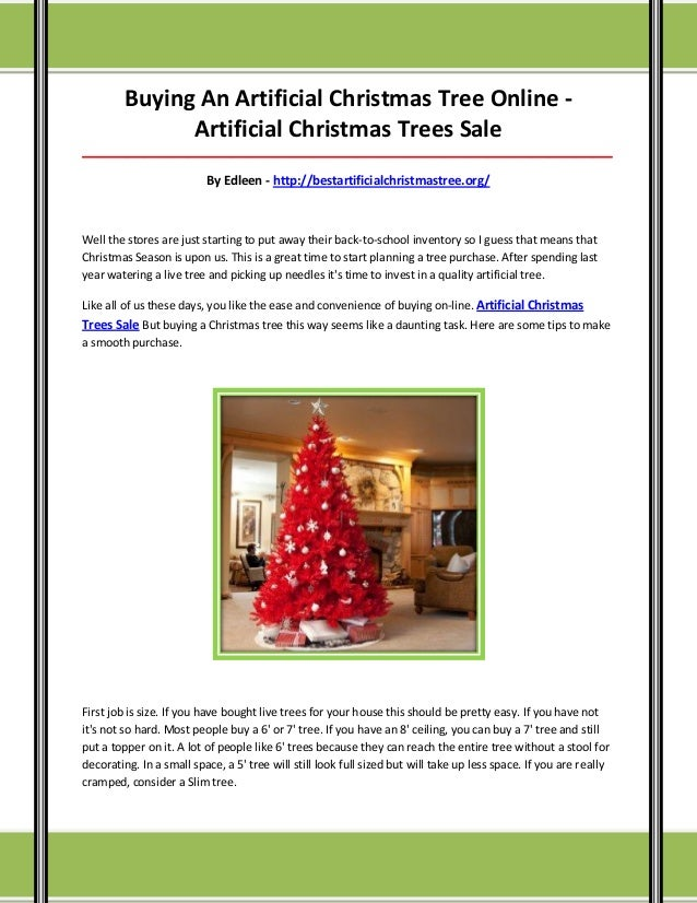 Artificial christmas trees sale