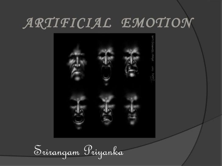 ARTIFICIAL EMOTION      ENGINE Srirangam Priyanka