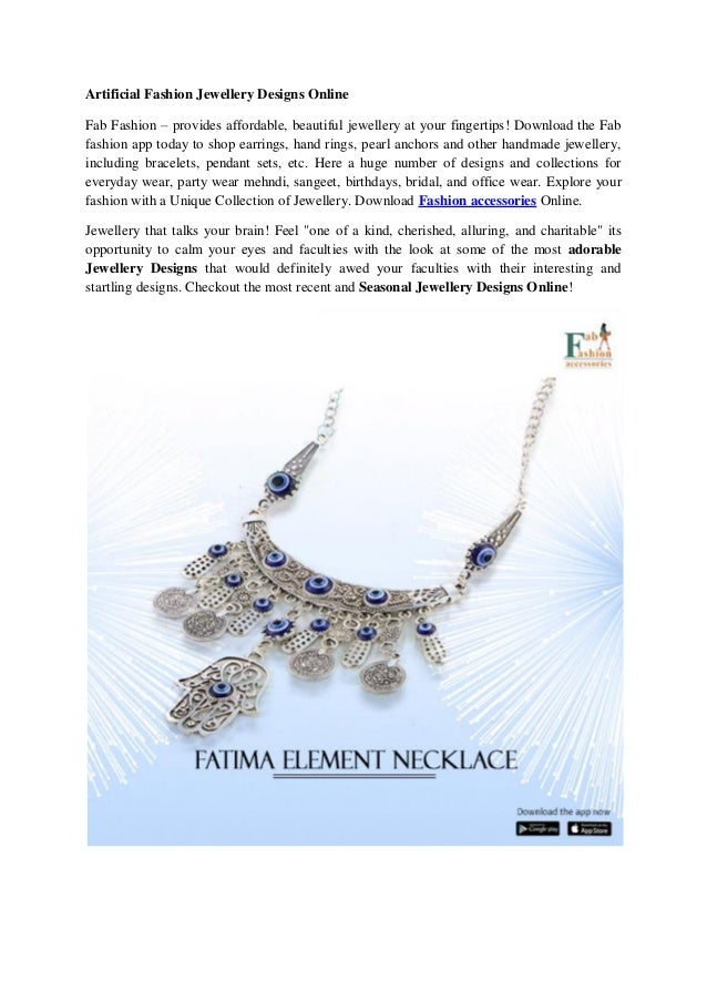 605336d6b9b534 Artificial Fashion Jewellery Designs Online Fab Fashion – provides  affordable, beautiful jewellery at your fingertips ...