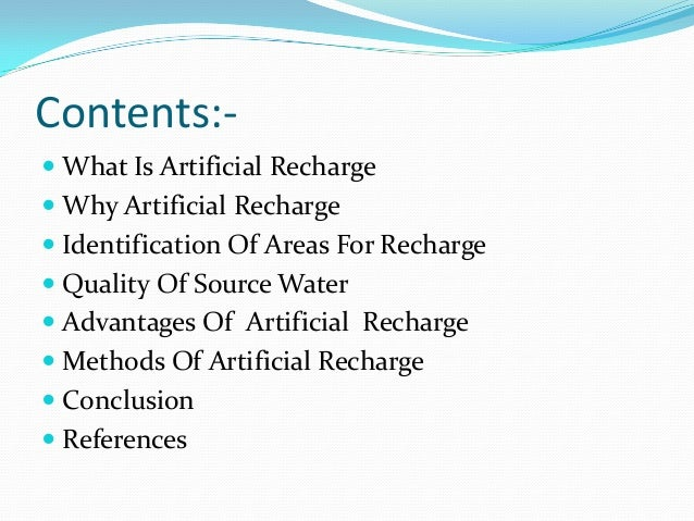 Artificial ground water recharge ppt Slide 2
