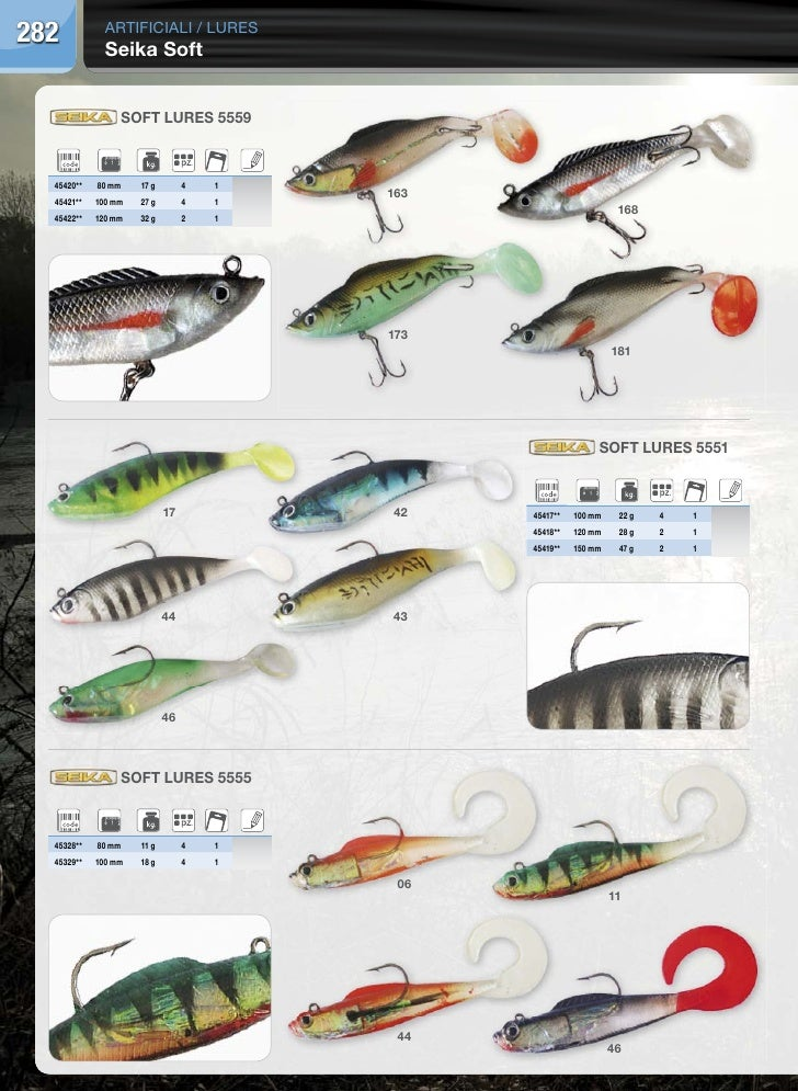 282           artificiali / lures              Seika Soft                 Soft LureS 5559  45420**   80 mm    17 g        ...