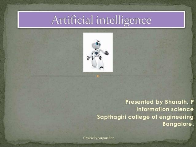 Presented by Bharath. P Information science Sapthagiri college of engineering Bangalore. Creativity corporation