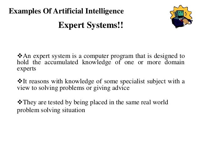 artificial intelligence examples