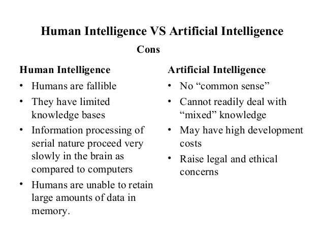 a comparison of cognitive ability and information processing in artificial intelligence Artificial intelligencecognitive ability of information processing essaysartificial intelligence: cognitive ability or information processing computers have become an.