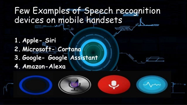 Artificial intelligence for speech recognition