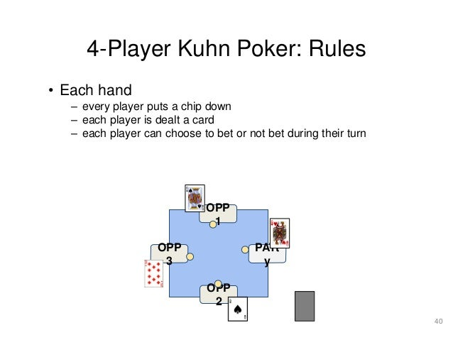 Kuhn poker rules patin a roulette femme cdiscount
