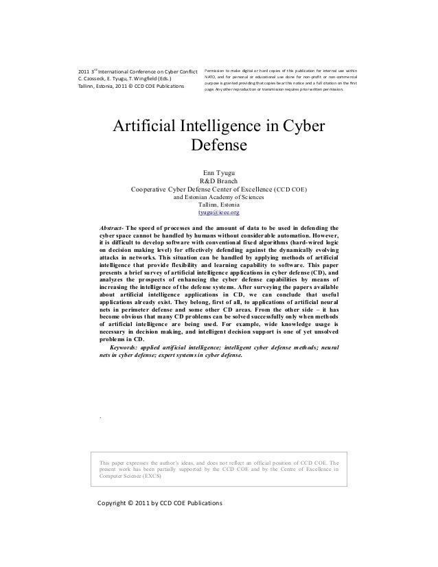 2011 3rd International Conference on Cyber Conflict   Permission to make digital or hard copies of this publication for in...
