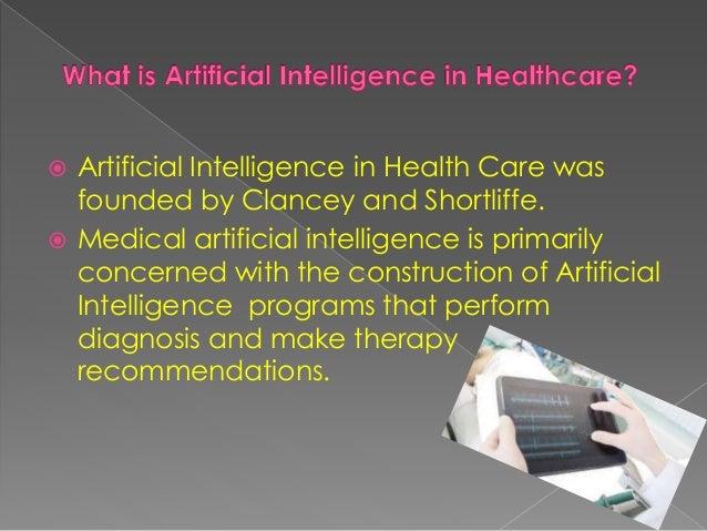 Artificial intelligence in healthcare Slide 2