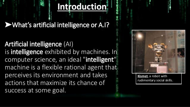 Artificial Intelligence(AI). Slide 3