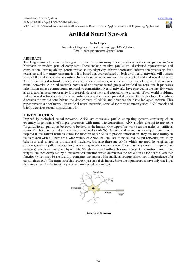 thesis on artificial neural networks