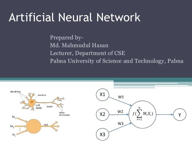 paper presentation on artificial intelligence and neural networks Artificial intelligence in cyber to applications of artificial neural the second section of the present paper introduces artificial intelligence as a field.