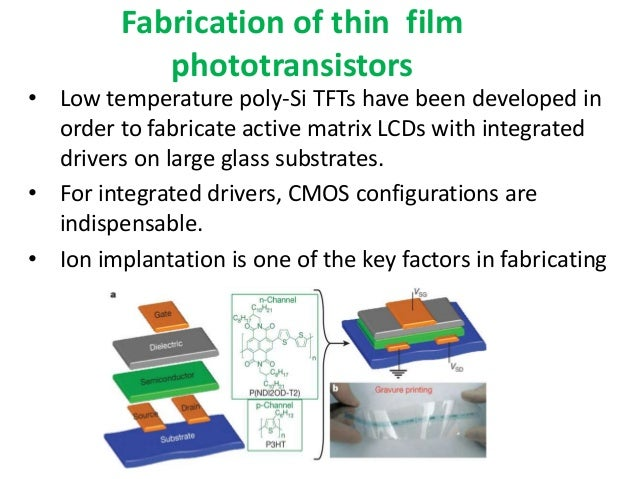 Artificial retina using thin film transistor technology 5 fabrication of thin film publicscrutiny Image collections
