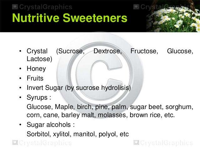 Artificial sweeteners  Artificial swee...