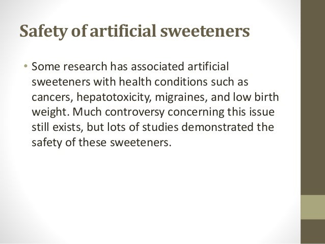 artificial sweeteners and their long term health Since their fda approval, artificial sweeteners and their benefits on metabolic health have been questioned (9,10) an association between artificial sweetener intake and weight gain was first observed in epidemiological studies with adults.