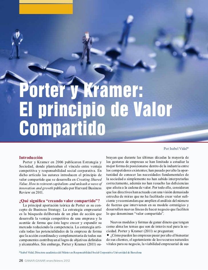 Porter y Kramer:El principio de ValorCompartido                                                                           ...