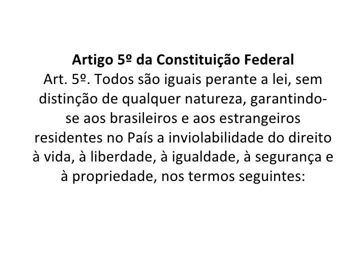 Constituicao federal artigo 5