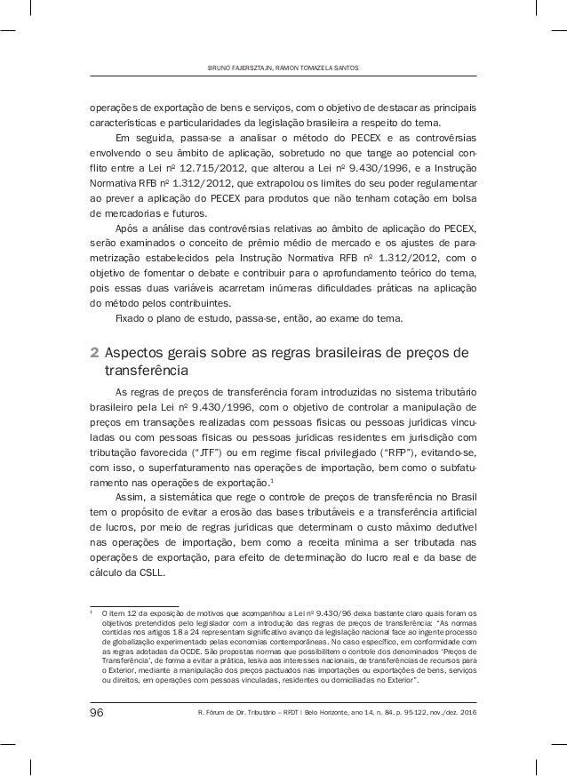 O controle de preços de transferência nas exportações de commodities e o método do PECEX Slide 2