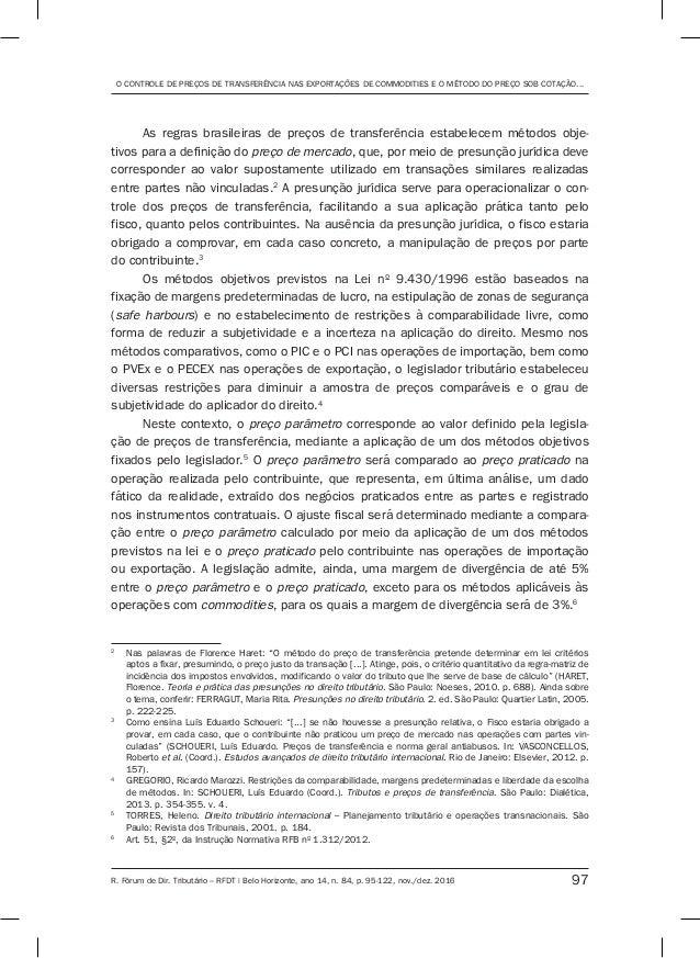 O controle de preços de transferência nas exportações de commodities e o método do PECEX Slide 3