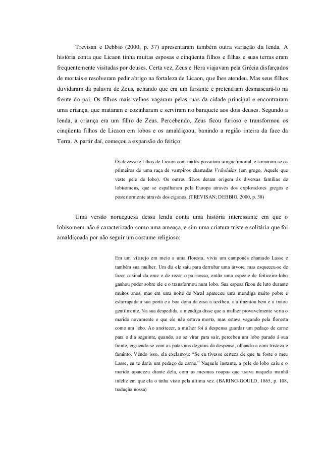 Preferência O Lobisomem uma lenda que ameaça (Artigo) PR27