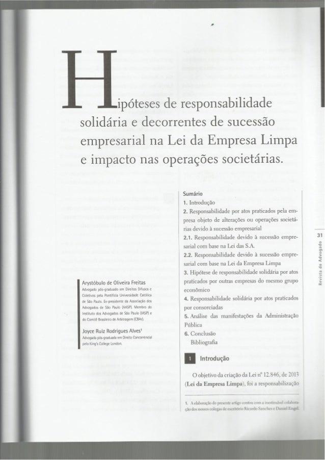 Arystóbulo de Oliveira Freitas Advogado pós-graduado em Direitos Difusos e Coletivos pela Pontifícia Universidade Catolica...