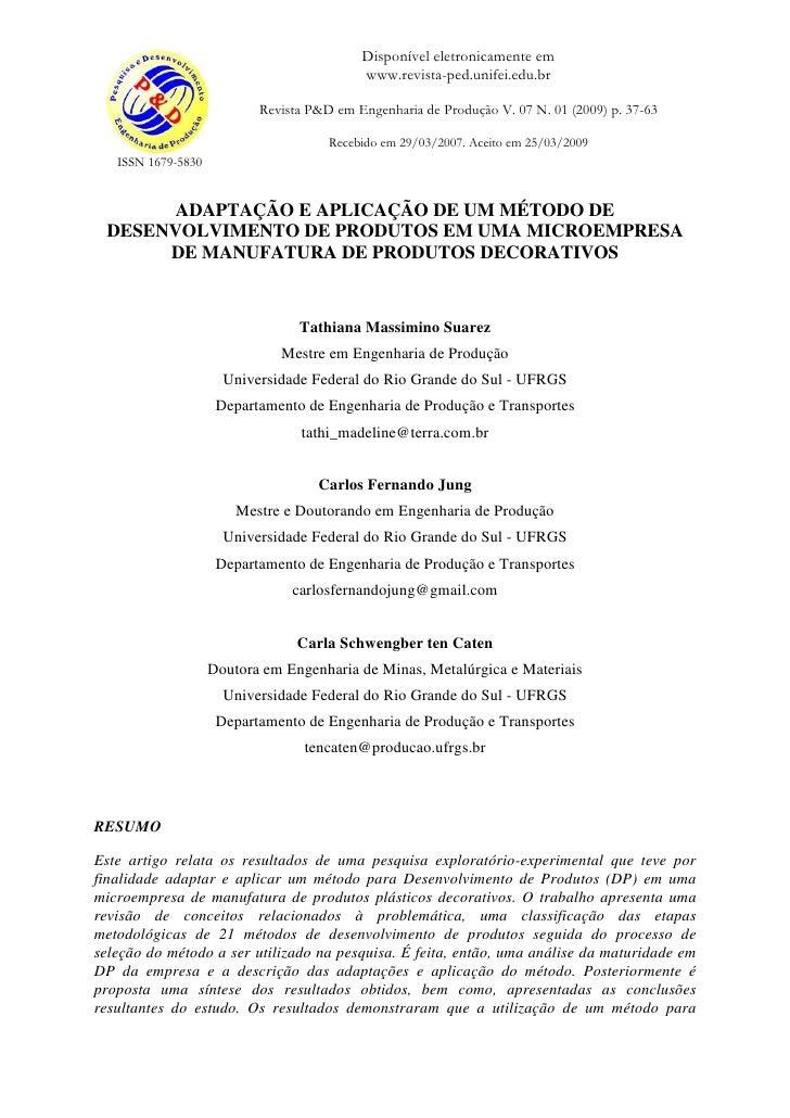 Disponível eletronicamente em                                           www.revista-ped.unifei.edu.br                     ...