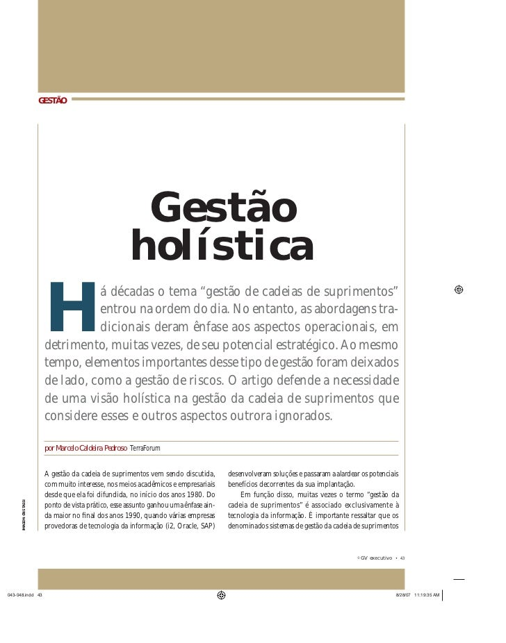GESTÃO                                                    Gestão                                                   holísti...