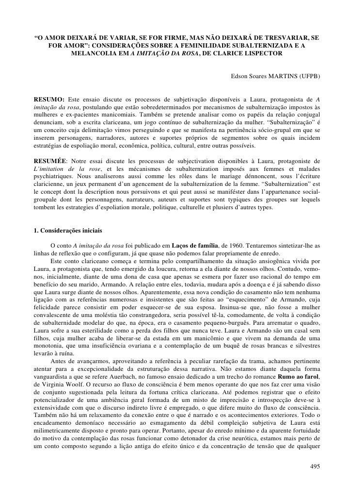 """""""O AMOR DEIXARÁ DE VARIAR, SE FOR FIRME, MAS NÃO DEIXARÁ DE TRESVARIAR, SE     FOR AMOR"""": CONSIDERAÇÕES SOBRE A FEMINILIDA..."""