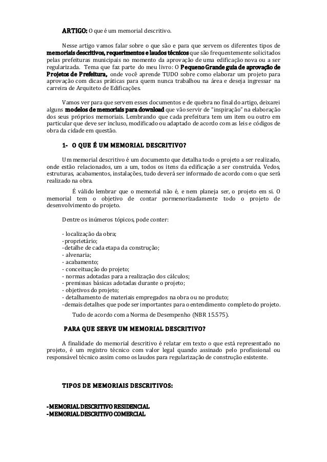 Memorial Descritivo De Teatro Trabalhos Acadêmicos October
