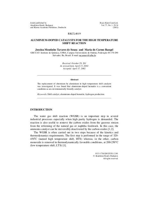 Artigo Aluminio e ferro catalisadores 2002