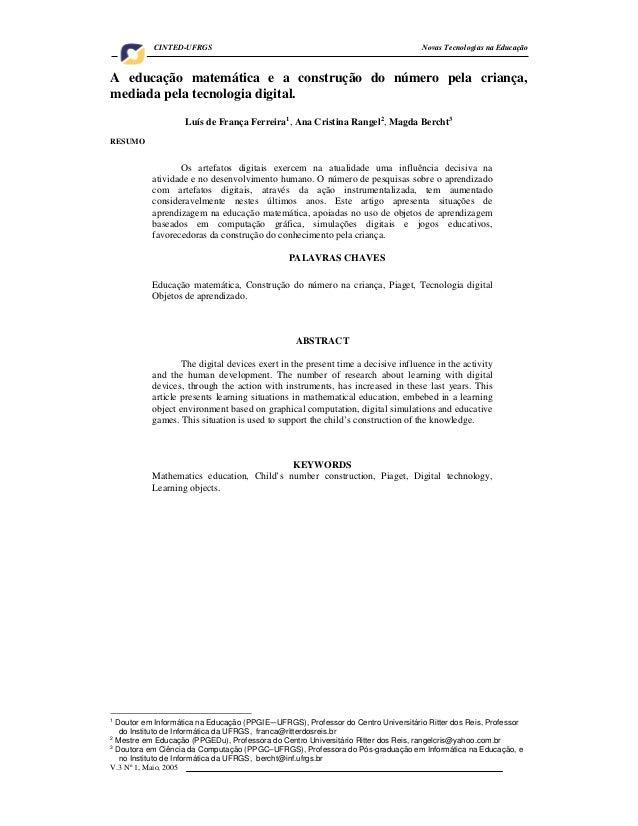 CINTED-UFRGS                                                             Novas Tecnologias na EducaçãoA educação matemátic...