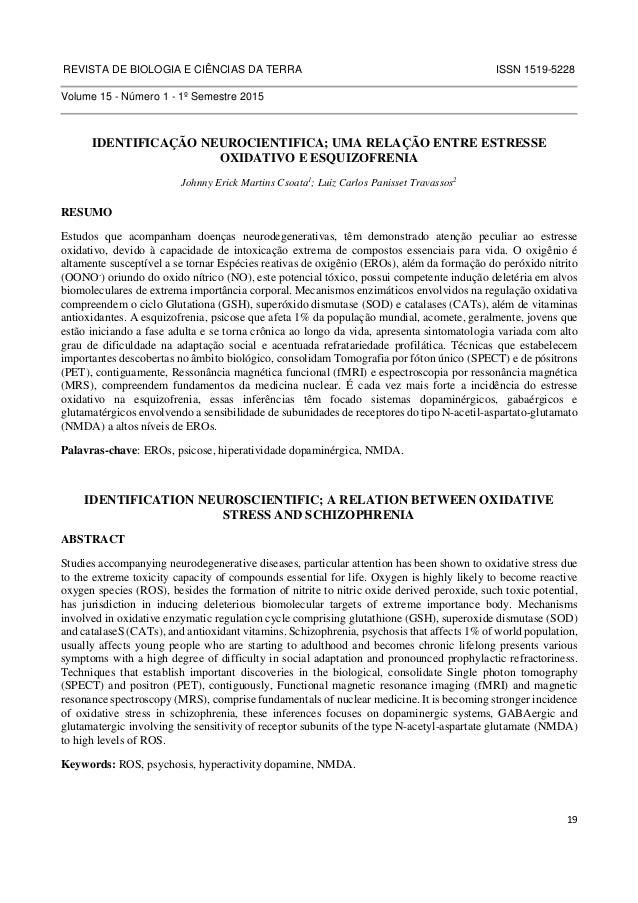 REVISTA DE BIOLOGIA E CIÊNCIAS DA TERRA ISSN 1519-5228  19  Volume 15 - Número 1 - 1º Semestre 2015  IDENTIFICAÇÃO NEUROCI...