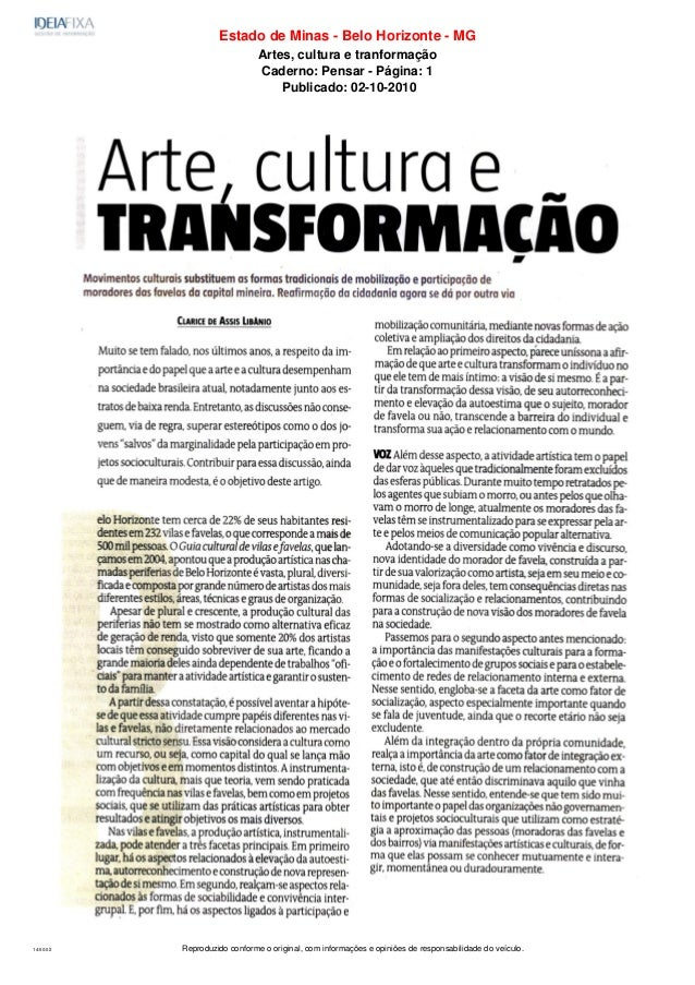 Reproduzido conforme o original, com informações e opiniões de responsabilidade do veículo.14:50:02 Estado de Minas - Belo...