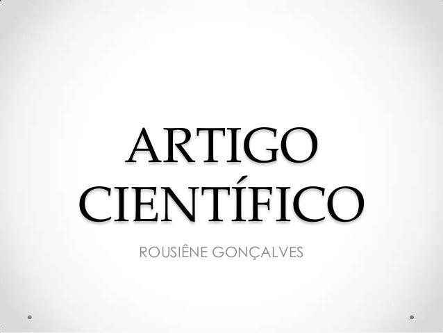 ARTIGO CIENTÍFICO ROUSIÊNE GONÇALVES